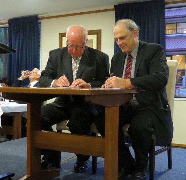 Australia-New Zealand Accord signing, Hamilton, NZ Nov 2017