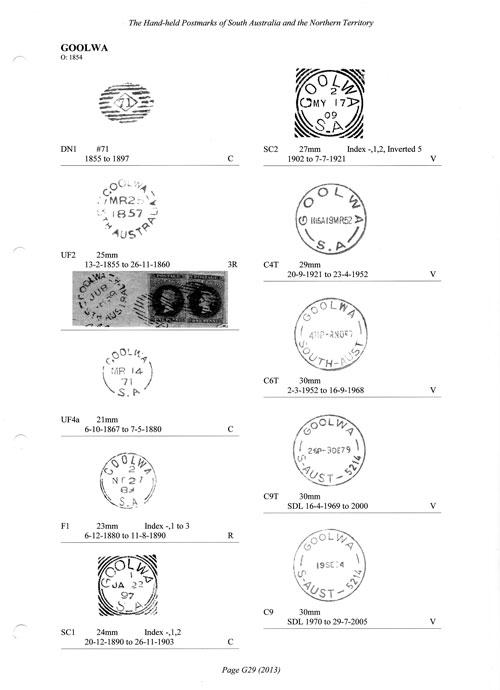 SA and NT Postmarks