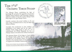 7½d Melbourne Olympic stamp